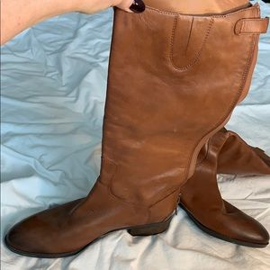 New Sam Edelman soft leather tan brown boots 12M